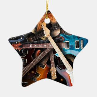 エレキギターの概念 セラミックオーナメント