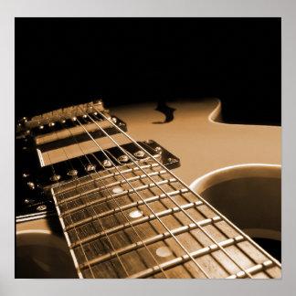 エレキギターの終わりの-ぴりっとするオレンジ ポスター