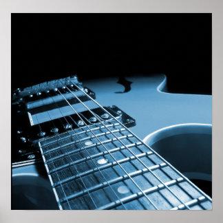 エレキギターの終わりの-青 ポスター