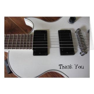 エレキギターは感謝していしています カード