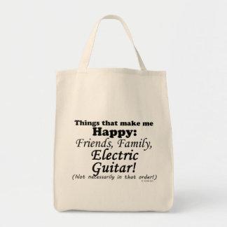 エレキギターは私を幸せにさせます トートバッグ