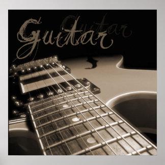 エレキギター2 -ブラウン ポスター