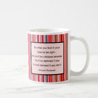 エレノア・ルーズベルトの引用文のマグ コーヒーマグカップ