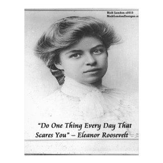 """エレノア・ルーズベルトは""""何かを恐い""""引用文します レターヘッド"""