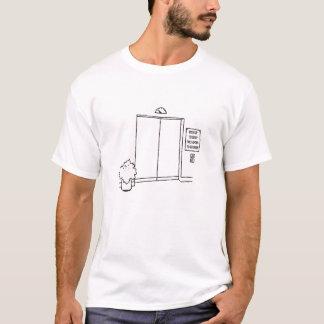 エレベーターのユーモア Tシャツ