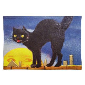 エレンH. Clapsaddle: 塀の黒猫 ランチョンマット