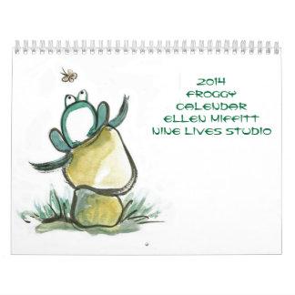 エレンMiffitt著Froggyのカレンダー2014年 カレンダー