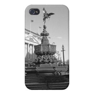 エロスロンドンの彫像のB/WのiPhoneの場合 iPhone 4/4S ケース