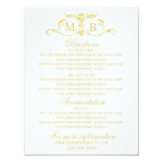 エンクロージャを結婚する情報カードを結婚する金ゴールド カード