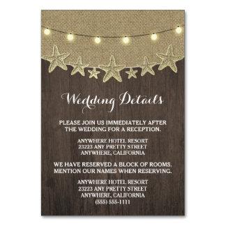 エンクロージャカードを結婚するヒトデの素朴なライト カード