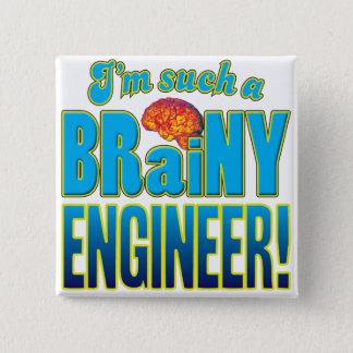 エンジニアの聡明な頭脳 缶バッジ