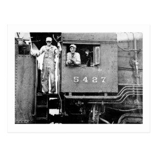 エンジン5427のヴィンテージのロコモーティブの蒸気機関 ポストカード