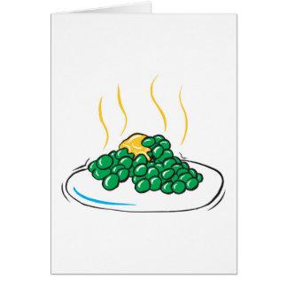 エンドウ豆およびバター グリーティングカード