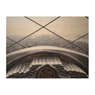 エンパイア・ステート・ビルディングからのニューヨークのスカイラインの眺め ウッドウォールアート