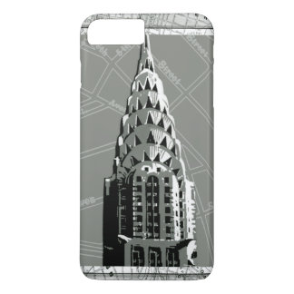 エンパイア・ステート・ビルディングが付いているニューヨークの通り iPhone 8 PLUS/7 PLUSケース