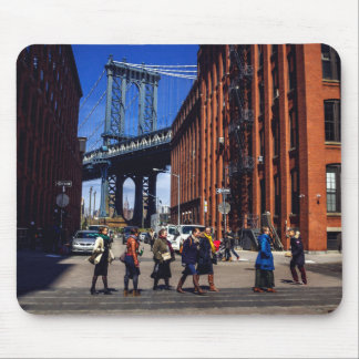 エンパイア・ステート・ビルディングが付いているマンハッタン橋 マウスパッド