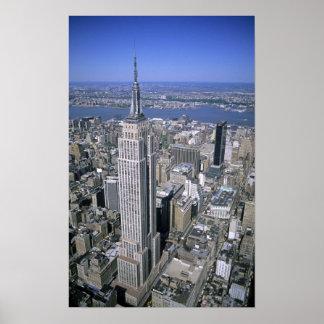 エンパイア・ステート・ビルディングの空中写真 ポスター