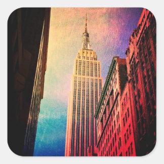 エンパイア・ステート・ビルディング-超現実的な-ニューヨークシティ スクエアシール
