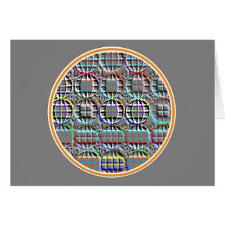 エンボスの一見の円形の円の芸術 カード