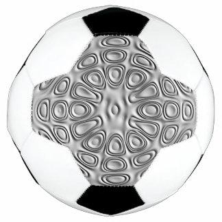 エンボスの一見の銀製灰色の金属の砂の花 サッカーボール