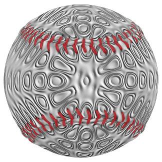 エンボスの一見の銀製灰色の金属の砂の花 ソフトボール