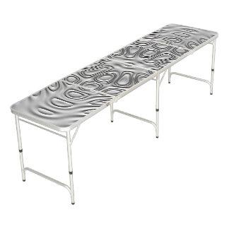 エンボスの一見の銀製灰色の金属の砂の花 ビアポンテーブル