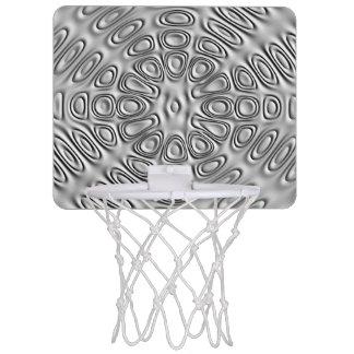 エンボスの一見の銀製灰色の金属の砂の花 ミニバスケットボールゴール