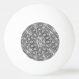 エンボスの一見の銀製灰色の金属の砂の花 卓球ボール