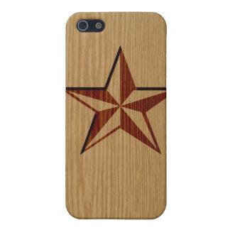 エンボスの木製の航海のな星のiPhoneのSpeckの場合 iPhone SE/5/5sケース