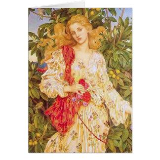 エヴァリンdeモーガン著植物相 カード