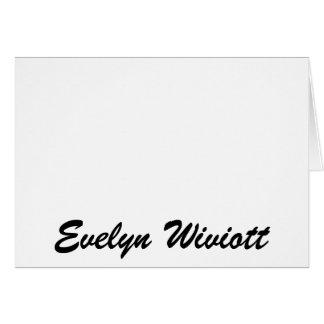 エヴァリンWiviott カード