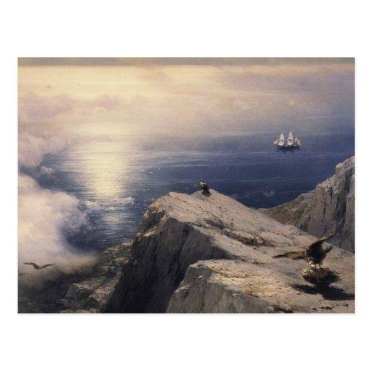 エーゲ海の岩石海岸風景 ポストカード