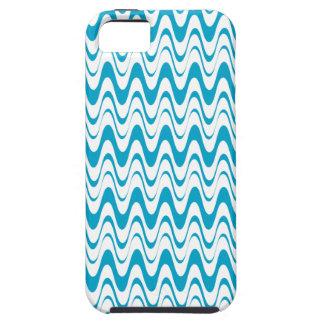 エーゲ海の青及び白い波パターンiPhone5箱 iPhone SE/5/5s ケース