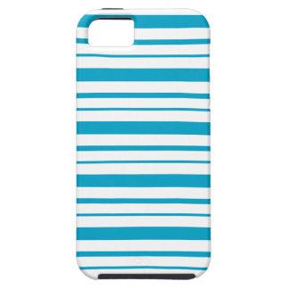 エーゲ海の青及び白くストライプのなiPhone 5の箱 iPhone SE/5/5s ケース