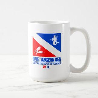 エーゲ海は潜ります コーヒーマグカップ