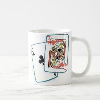 エースおよびジャックのポーカーカード コーヒーマグカップ