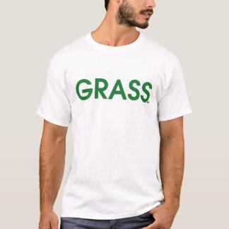 エースのテニスの芝のコート Tシャツ