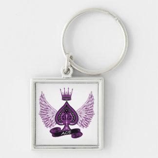 エース無性LGBTのプライドの翼および王冠 キーホルダー