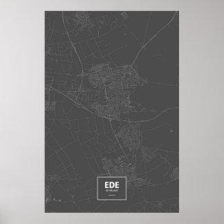 エーデのオランダ(黒で白い) ポスター