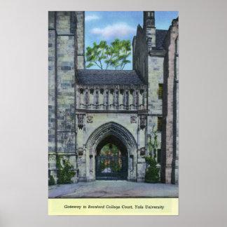 エール大学の出入口 ポスター