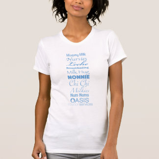 オアシスの授乳期による乳白色の用語 Tシャツ