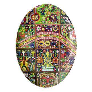 オアハカ州メキシコのメキシコマヤの種族の芸術のBoho旅行 磁器大皿