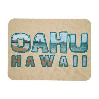 オアフハワイビーチの写真の文字 マグネット