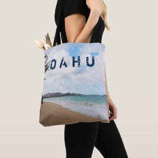 オアフハワイ海洋波及びビーチ トートバッグ
