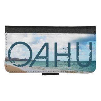 オアフハワイ海洋波及びビーチ iPhone 8/7 ウォレットケース