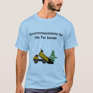 オイル・サンドのTシャツのための環境主義者 Tシャツ