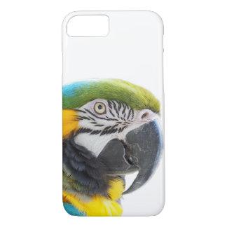 オウムのコンゴウインコの熱帯動物のエキゾチックな写真 iPhone 8/7ケース
