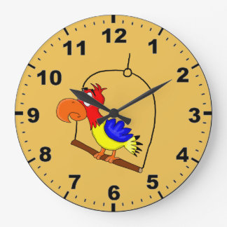 オウムのデザインの腕時計 ラージ壁時計