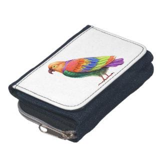 オウムのデニムの財布
