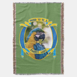 オウムの女性があることMacaw Pet Bird Wildlife誇りを持った 毛布